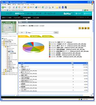 管理画面 アクセス解析