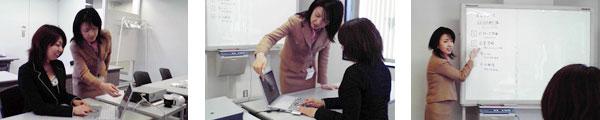 「モバイルマーケティングカレッジ」の操作教育コーは、短時間で習得でき、疑問もその場で解決できる。